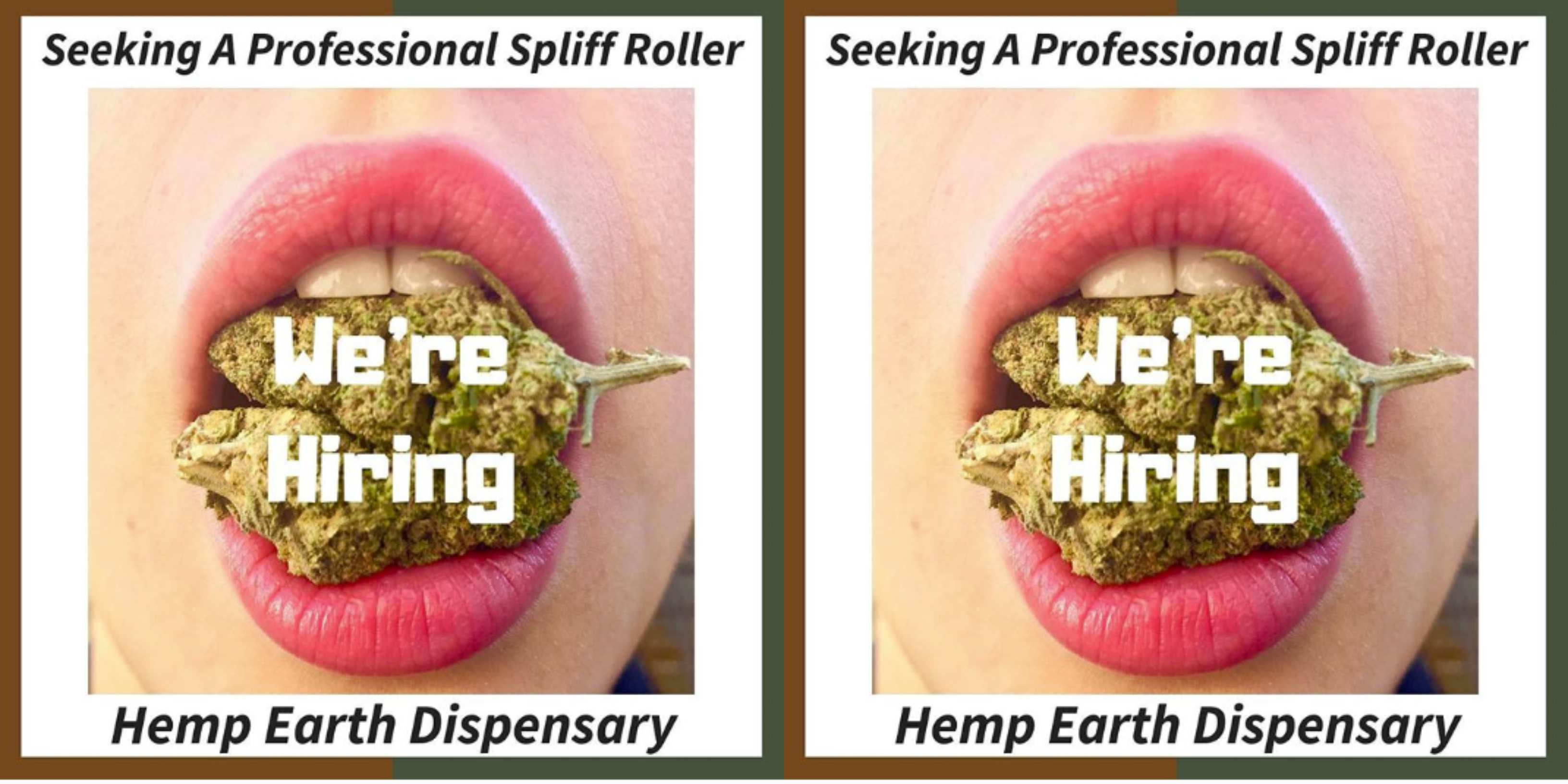 This shop in Brighton is hiring a professional spliff roller